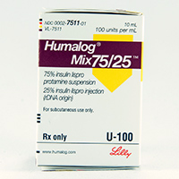 Humalog Mix75 25 Dosage Rx Info Uses Side Effects