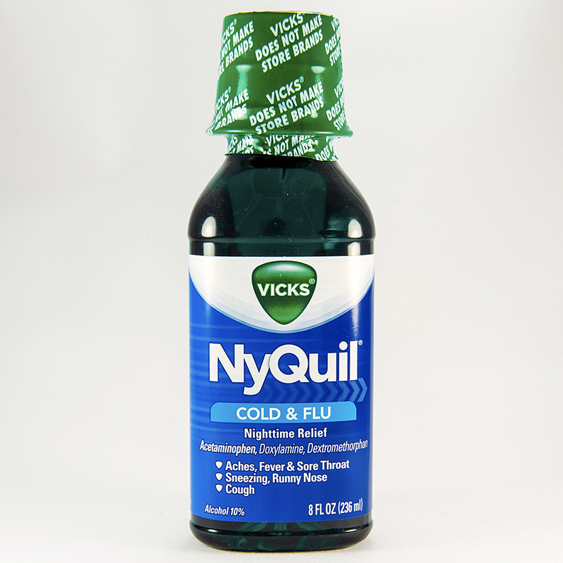 Nyquil cold flu liquid dosage rx info uses side effects