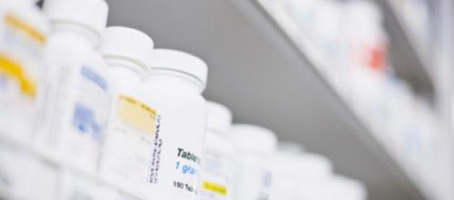 pill bottles shelf