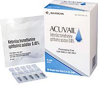 ACUVAIL (ketorolac tromethamine) 0.45% ophthalmic solution by Allergan