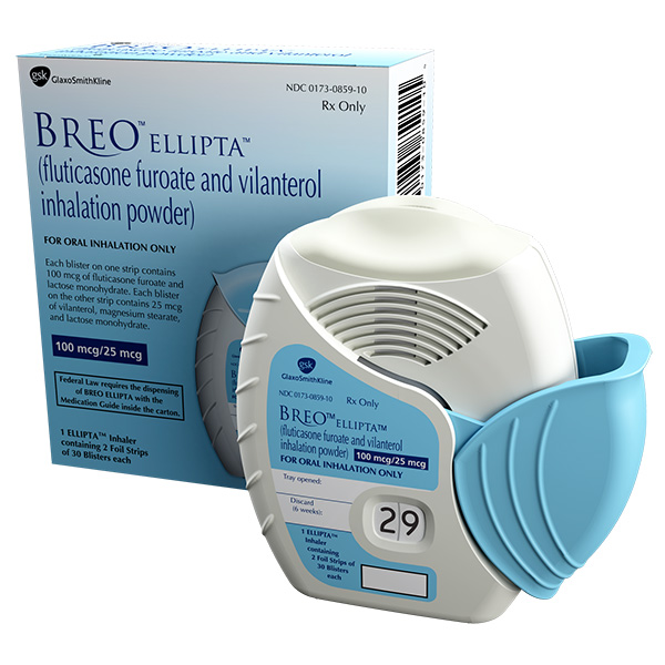 BREO ELLIPTA (fluticasone furoate and vilanterol) Inhalation Powder