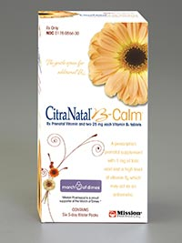 CITRANATAL B-CALM by Mission Pharmacal