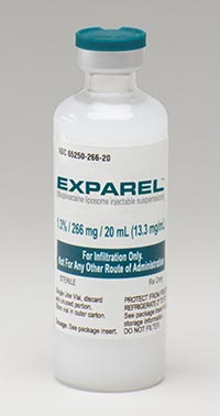 EXPAREL (bupivacaine liposome) 1.3% injectable suspension by Pacira