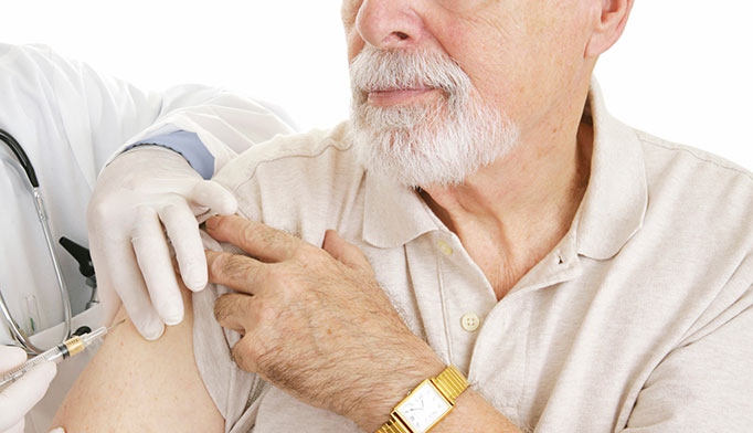 Other men's health issues, including COPD, diabetes, AIDS and cancer make men more susceptible to influenza and pneumonia. The American Lung Association currently recommends influenza and pneumococcal vaccination for men aged older than 65 years.