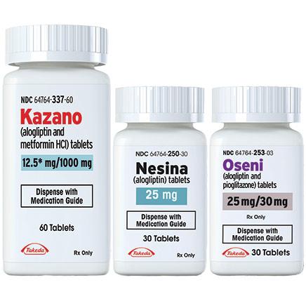 KAZANO (alogliptin/metformin HCl), NESINA (alogliptin), OSENI (alogliptin/pioglitazone) Tablets