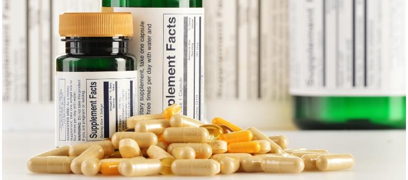 Supplement pills bottles