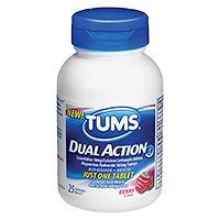 TUMS Dual Action available for heartburn treatment
