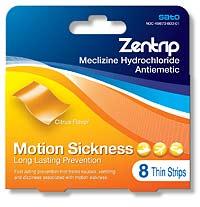 ZENTRIP (meclizine) quick-dissolving strips by Sato Pharmaceutical