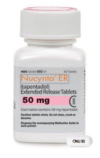NUCYNTA ER (tapentadol) 50mg, 100mg, 150mg, 200mg, 250mg extended-release tablets by Janssen