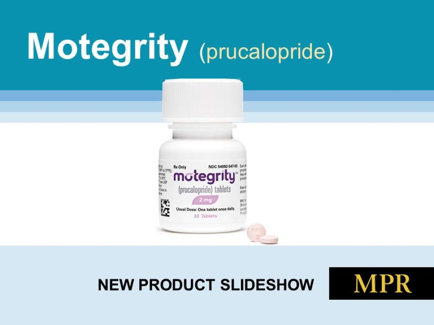 new drug product  motegrity