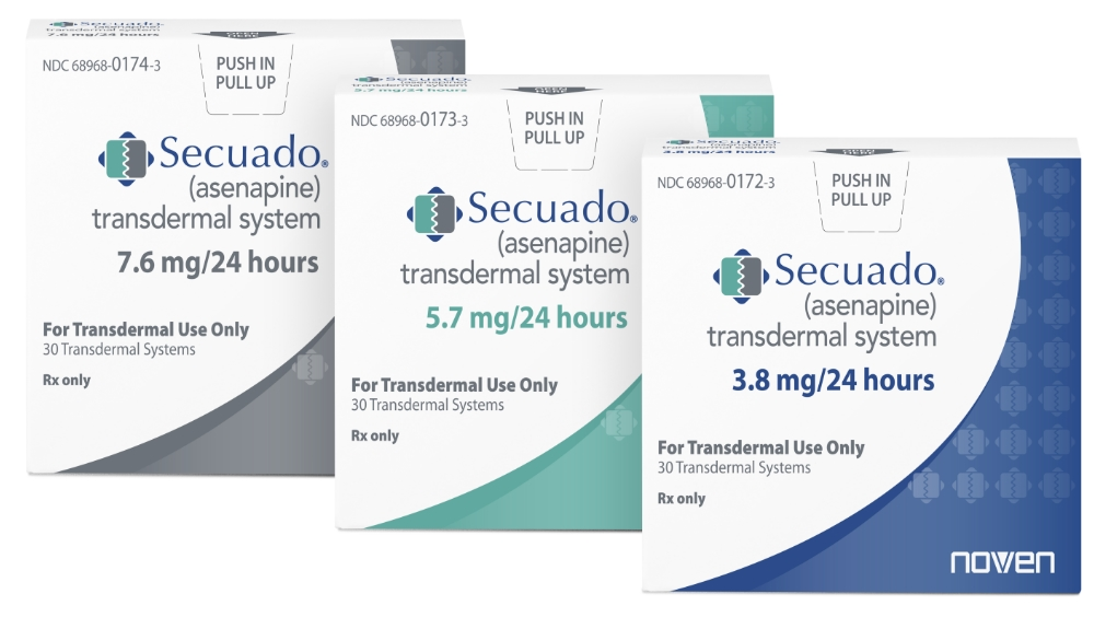 Rx Item-SECUADO 3.8 mg/24 hours transdermal system (system size: 20 cm2)  by Nov