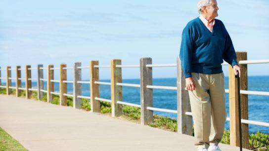 elderly man walking, exercise