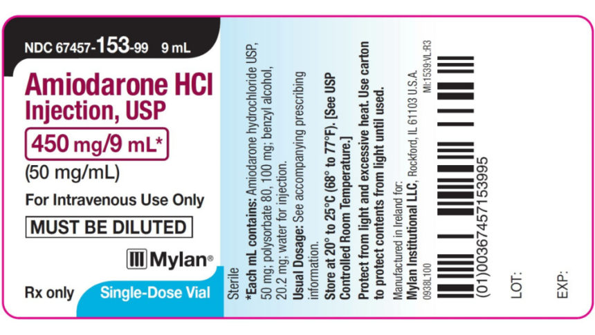 Label Mix-Up Prompts Recall of IV Amiodarone, Tranexamic Acid - MPR