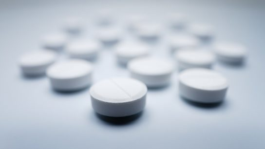 Small army of white pills